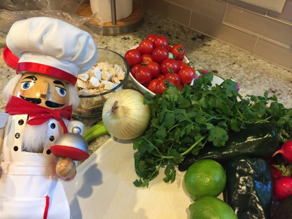 Pozole ingredients with Pepe at Mincoffcafe
