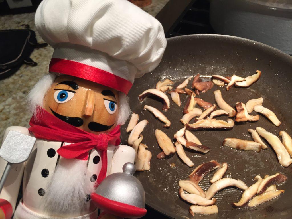 sautéd shiitake mushrooms