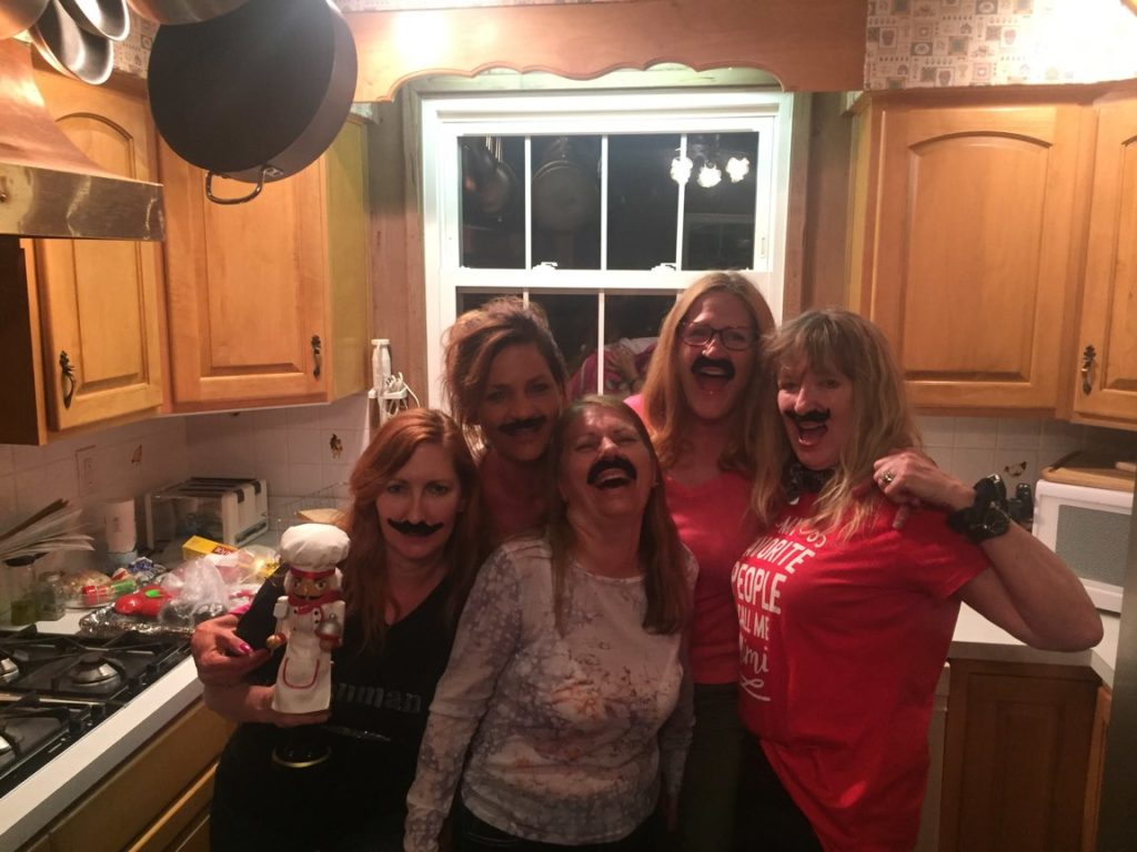 pepe & friends wearing mustaches