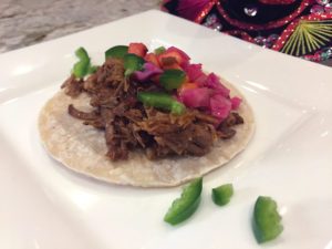 smoked pulled pork tacos