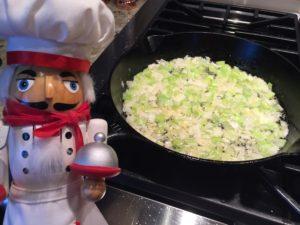 sauté veggies for stuffing