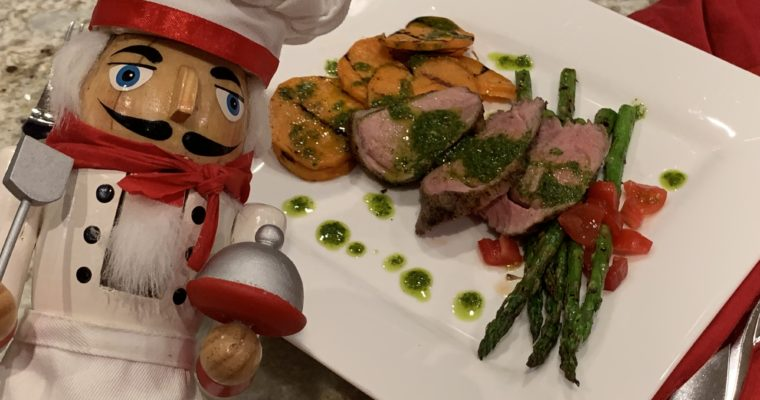 Chili Lime Pork Tenderloin & Chimichurri Sauce