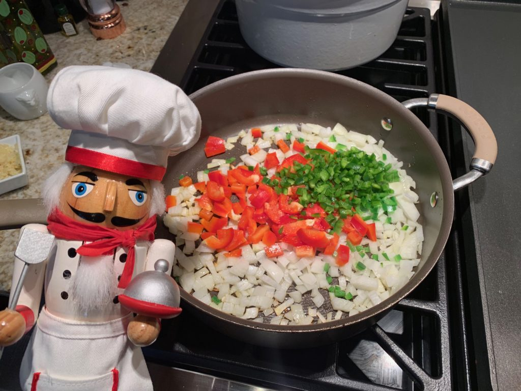 Onions and Peppers for quesadillas