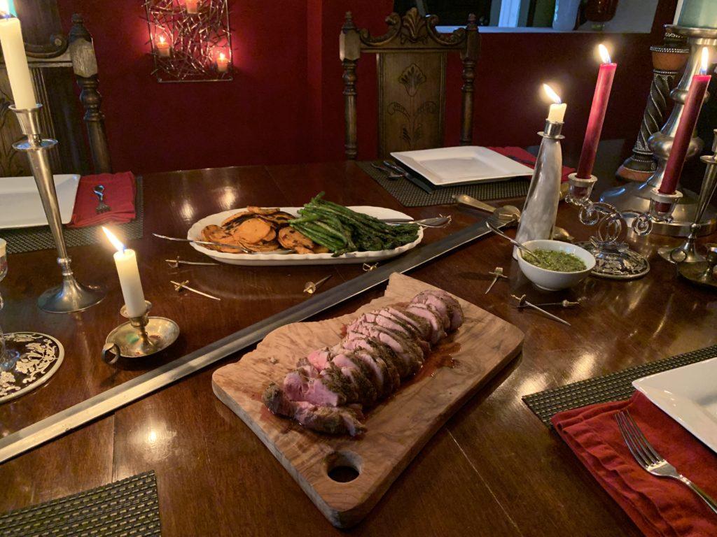 Grilled chili lime pork tenderloin medieval feast