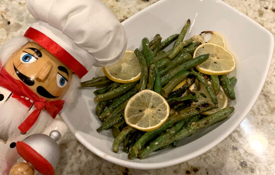 Lemon & Garlic Roasted Green Beans
