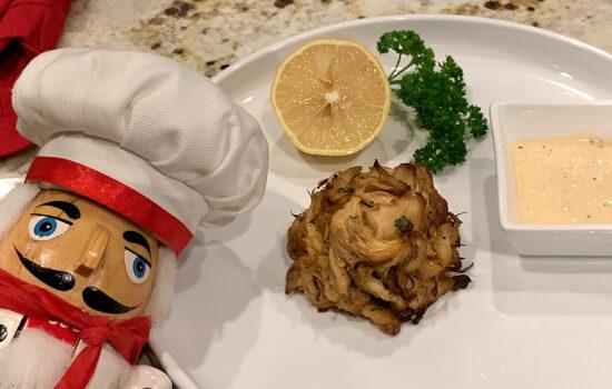 Lion's Mane Crab Cakes