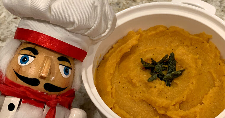 Butternut Squash Mash with Sage Brown Butter