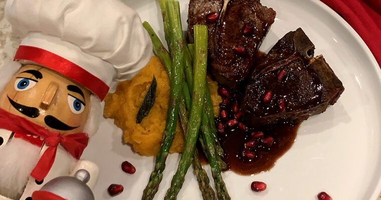 Seared Lamb Chops & Pomegranate Wine Sauce