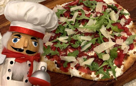 Beef Carpaccio & Truffle Pizza