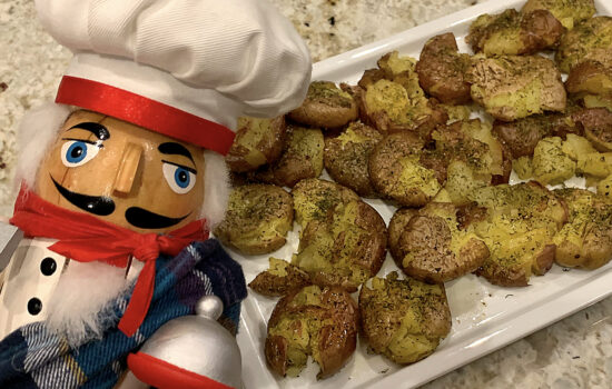 Dill Smashed Sheet Pan Baby Potatoes